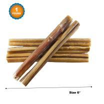 123 Treats - Bully Sticks Dog Chews 6 Inches 1 Pound Dog Treat Bag 100% All-Natural Beef Free-Range, Grass-Fed Cattle