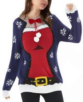QUALFORT Women's Ugly Christmas Sweater