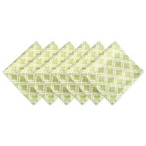 DII 100% Polyester, Spill Proof, Machine Washable, Outdoor Use 20x20 Napkin, Set of 6, Fresh Spring Lattice, Green