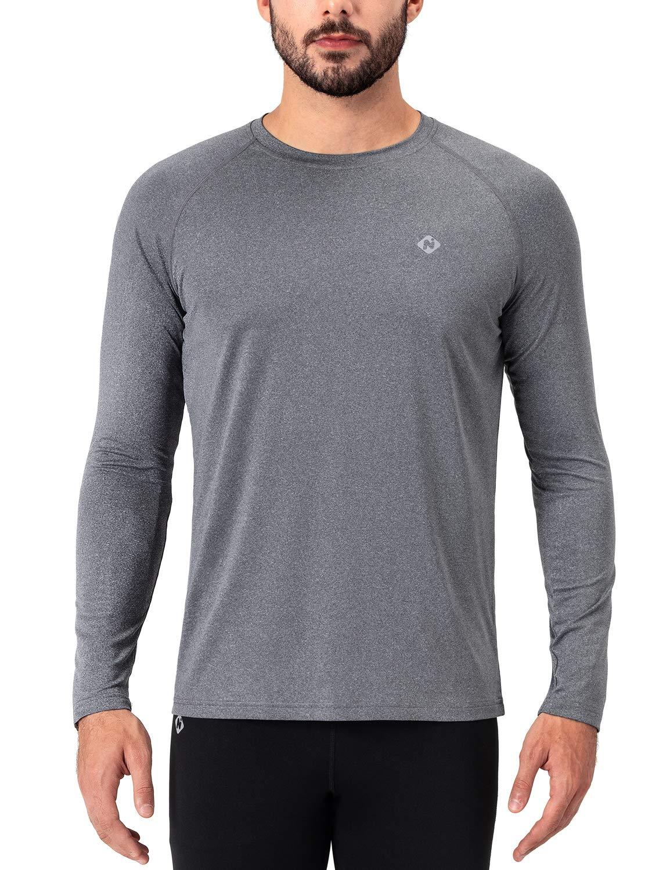 NAVISKIN Men's Quick Dry Running Workout Long Sleeve Shirts