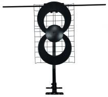 Antennas Direct ClearStream 2V TV Antenna, 60+ Mile Range, UHF/VHF, Multi-directional, Indoor, Attic, Outdoor, Mast w/Pivoting Base/Hardware/ Adjustable Clamp, Sealing Pads, 4K Ready, Black – C2-V-CJM