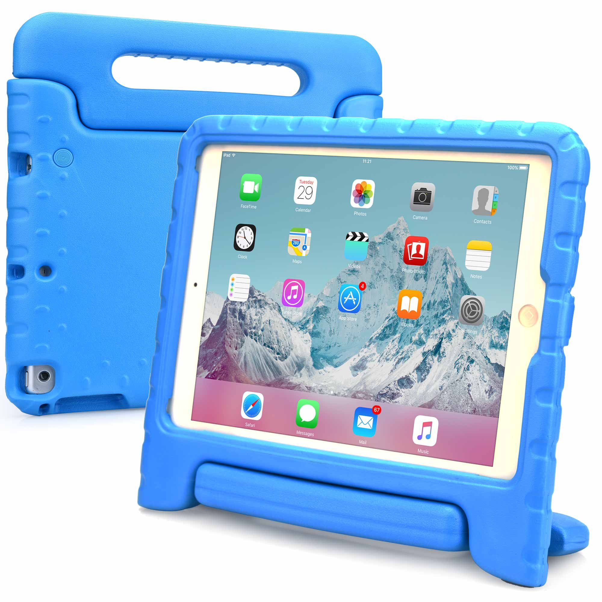 Cooper Dynamo [Rugged Kids Case] Protective Case for iPad Air 1   Child Proof Cover with Stand, Handle, Screen Protector   A1474 A1475 A1476 (Blue)