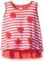 Gerber Graduates Baby Girls' Sleeveless Swing Top with Rosettes