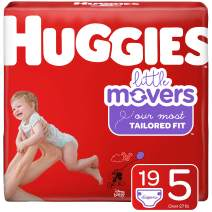 Huggies Little Movers Diapers, Step 5 (27+ lb.), 19 Ct, Jumbo Pack (Packaging May Vary)