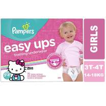 Pampers Easy Ups Pull On Disposable Training Diaper for Girls, Size 5 (3T-4T), Super Pack, 72 Count
