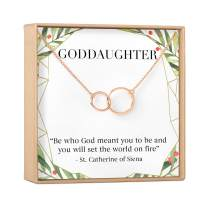 Goddaughter Christmas Necklace - Goddaughter Gift, Jewelry, Xmas Gift, Gift Idea, from Godmother, Presents, Heartfelt Card & Jewelry Gift Set