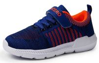 Vivay Kids Boys Tennis Shoes Breathable Athletic Running Sneakers for Boys (Blue Orange,Size 12.5 Little Kid) …