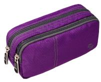Large Pencil Case Office Supplies - Durable Student Office Pen Holder Organizer Stationary Bag with Double Zippers Multi Big Capacity Compartments for Adults Girls Boys (Purple-Upgrade)