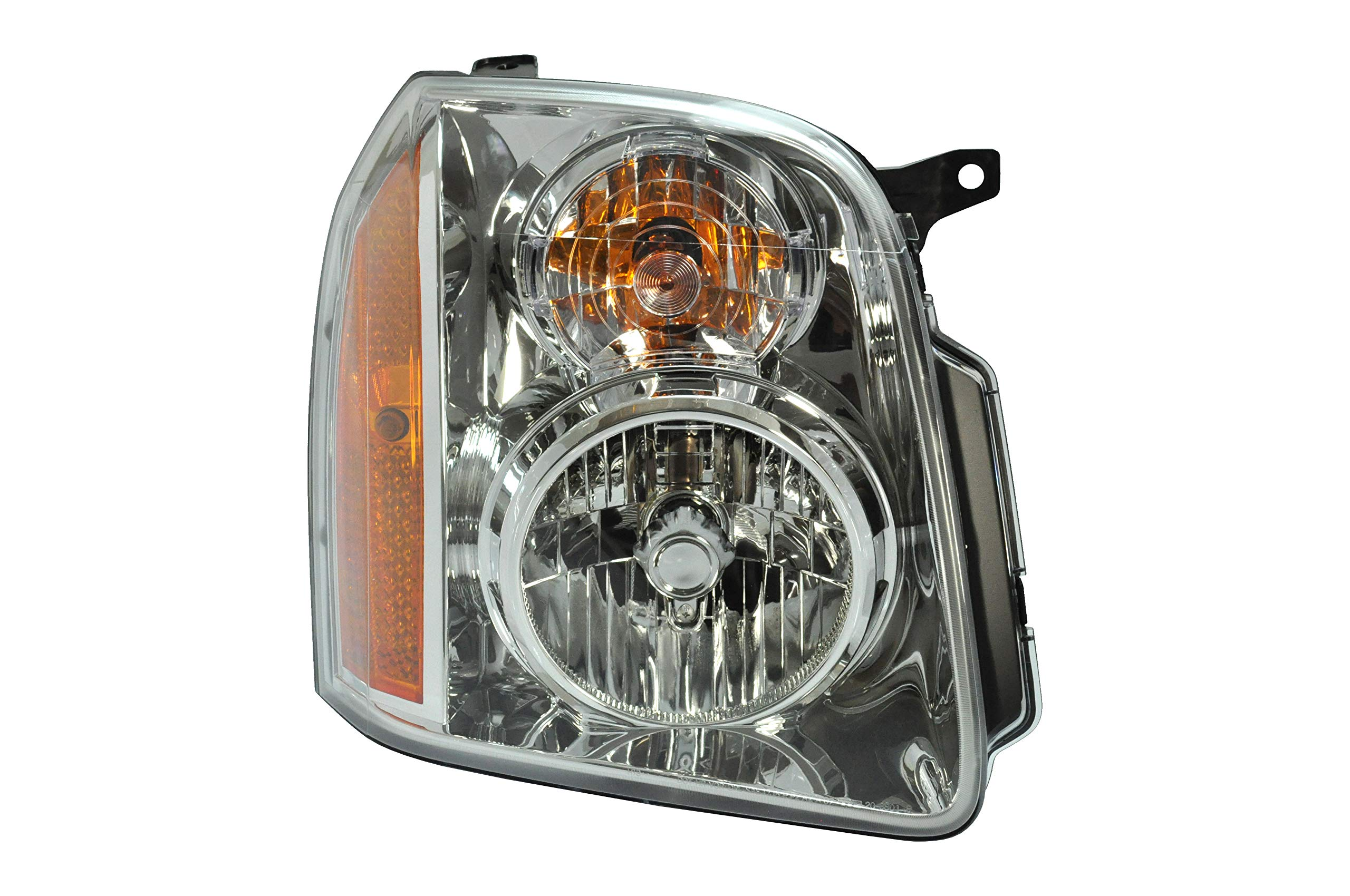 Passenger Side Headlight Headlamp for 2007-2014 GMC Yukon, Yukon XL GM2503265 20969895 - Includes the Bulb