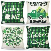 ZIFTY 4-Pcs Throw Pillow Covers (St.Patrick)