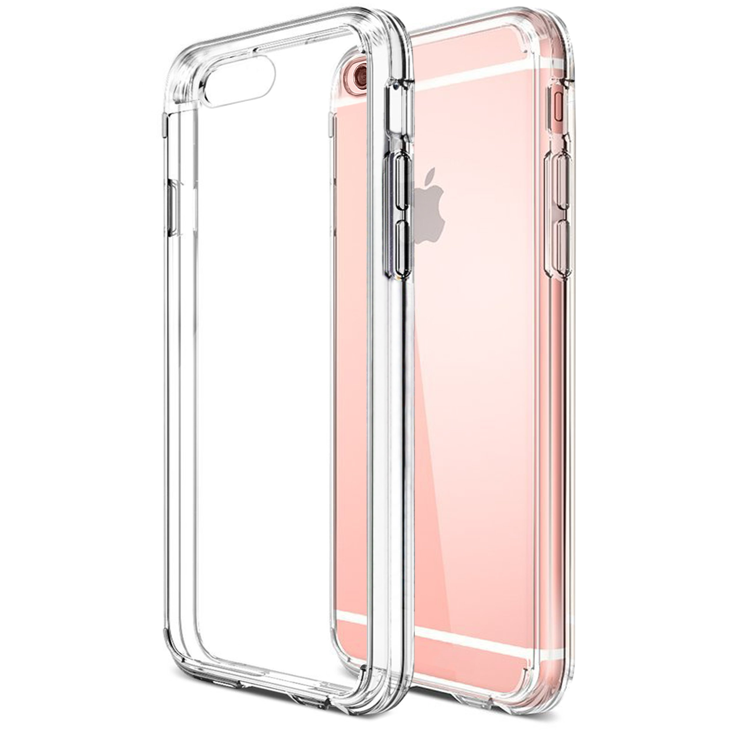 Ailun Phone Case for iPhone 6s iPhone 6 Solid Acrylic Back Reinforced Soft TPU Frame Ultra Clear Slim Shock Absorption Bumper Anti Scratch Fingerprint Oil Stain Back Cover