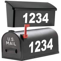 """1060 Graphics 4.5"""" Premium Reflective Mailbox Numbers - Custom Made in Any Style, Color, Text, Size (Design Your Own Address Vinyl Sticker Decals)"""