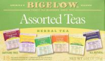 Bigelow Assorted Herbal Teas, 18 Count, Pomegranate Pizzazz, Mint Medley, I Love Lemon, Cozy Chamomile, Orange & Spice and Sweet Dreams