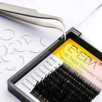 Eyelash Extensions C Curl .15 Lash Extension 16 Rows 0.15mm Classic Single Individual Lashes by EMEDA (0.15mm C 12mm)