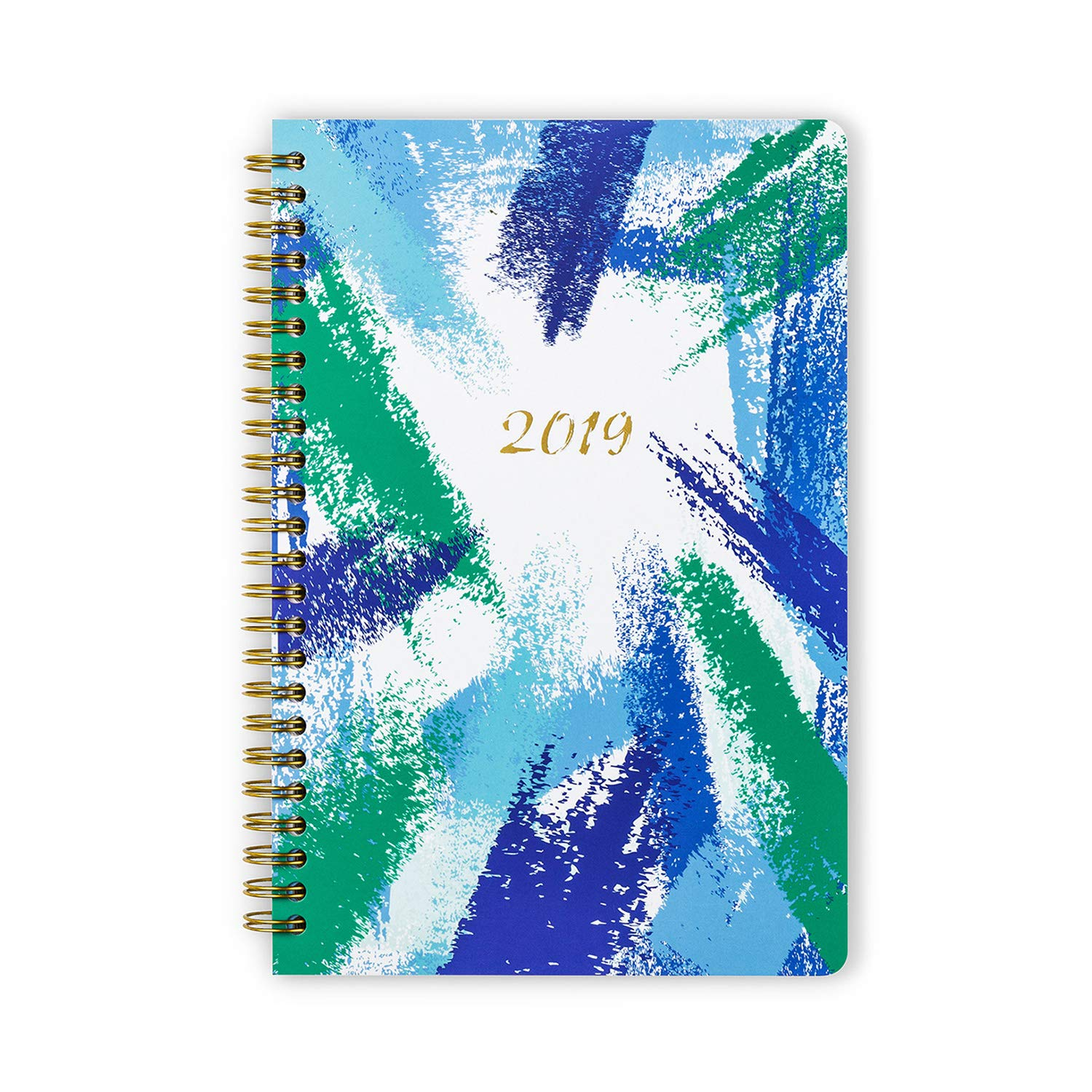 Cabbrix 2019-2020 Hardcover Planner Academic Year Daily Weekly & Monthly Small Planners, Feather Pattern, 5.5 x 8 Inches (Autumn)