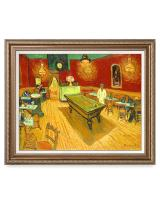 DECORARTS - The Night Cafe in The Place Lamartine in Arles, Vincent Van Gogh Art Reproduction. Giclee Print& Framed Art for Wall Decor. 30x24, Framed Size: 35x29
