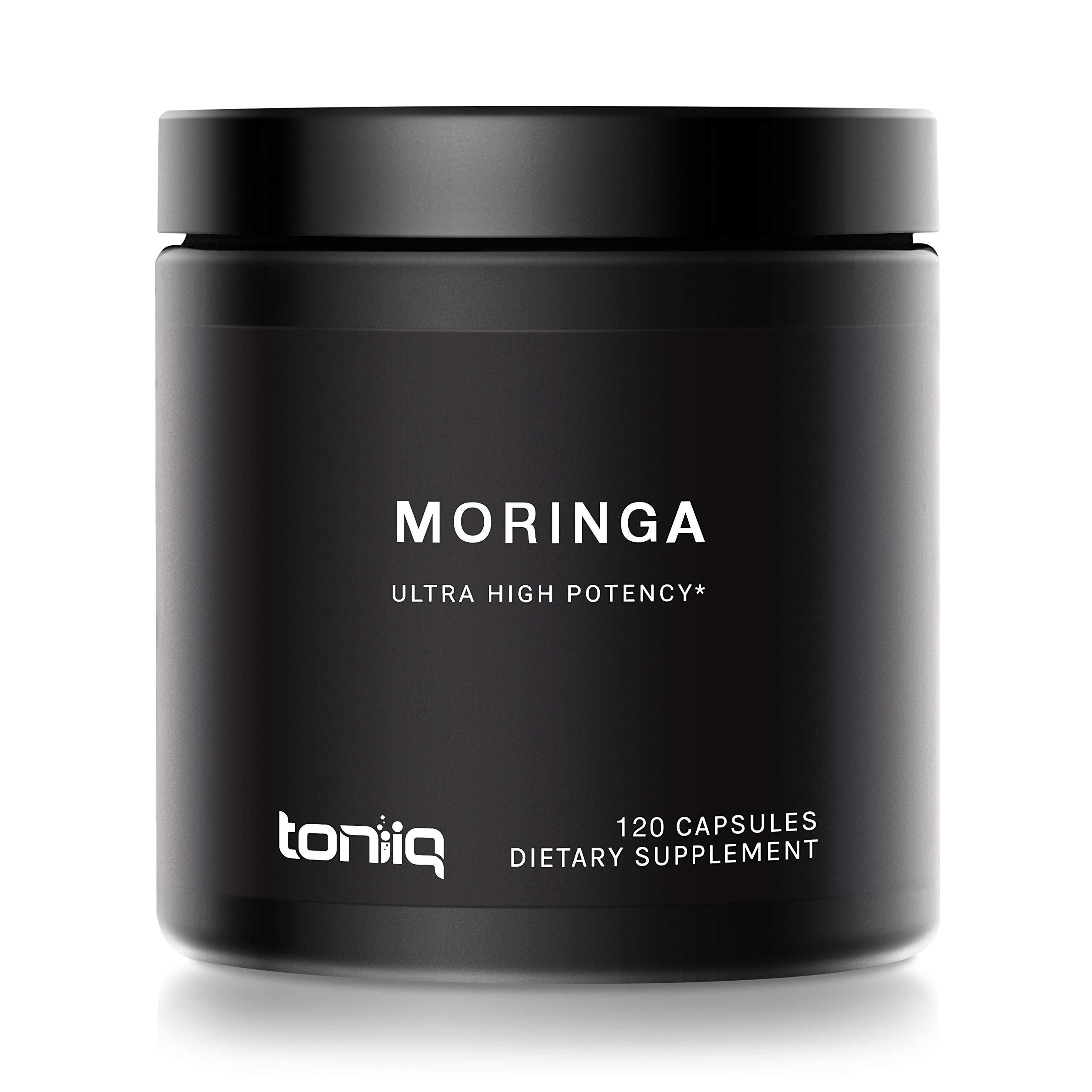 Moringa Leaf Capsules - 10x Concentrated Moringa Oleifera Powder Extract - 120 Capsules