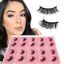 BEEOS Mink Lashes 3D Handmade Real Hair Fluffy Reusable False Eyelashes Multipack