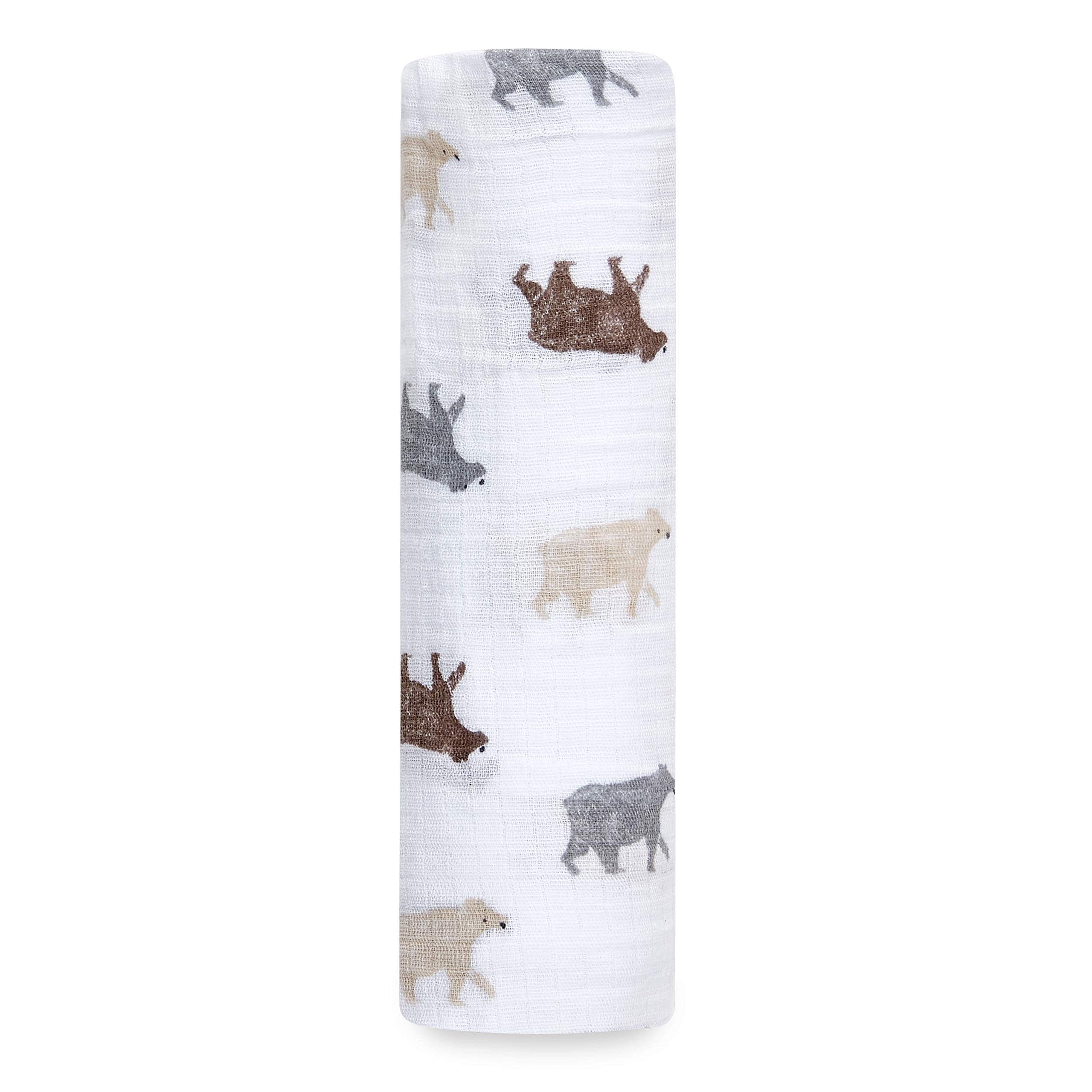 Aden by aden + anais Swaddle Blanket, Muslin Blankets for Girls & Boys, Baby Receiving Swaddles, Ideal Newborn Gifts, Unisex Infant Shower Items,Toddler Gift,Wearable Swaddling Wrap,Bear Necessities