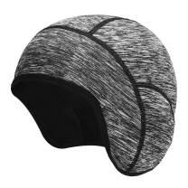 KUTOOK Helmet Liner Skull Cap Windproof Thermal Fleece Cycling Beanie Ear Covers for Running Motorcycle