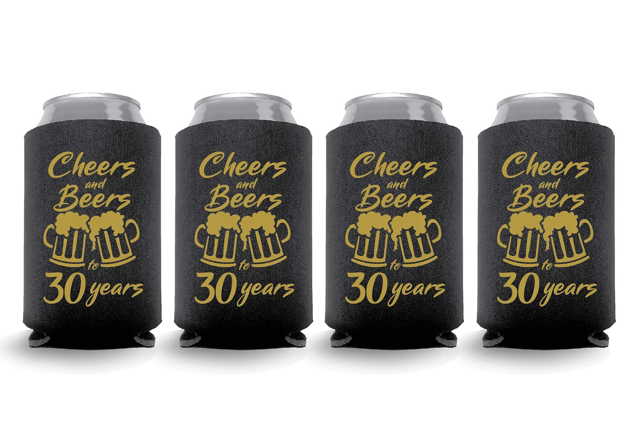 Coolies Can Coolers Collapsible Beer Soft Drinks Bottle Soda Sleeves Durable Insulators Premium Quality for Birthday Party 30 C&B Black Set of 6