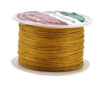 Mandala Crafts 1mm 109 Yards Jewelry Making Beading Crafting Macramé Waxed Cotton Cord Thread (Dark Goldenrod)