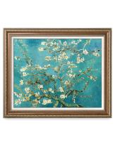 DECORARTS - Almond Blossom Tree - Vincent Van Gogh Reproduction. Giclee Print w/Bronze Frame for Wall Decor. 30x24, Framed Size: 35x29