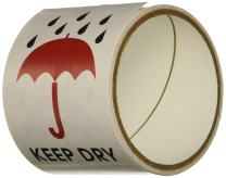 """TapeCase""""Keep Dry"""" Label - 50 per Pack (1 Pack)"""