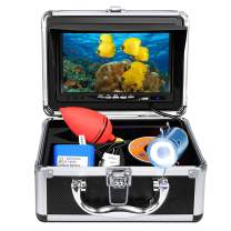 "Anysun Underwater Fish Finder - Professional Fishing Video Camera with 7"" TFT Color LCD HD Monitor 700TVL, CCD 15M Cable Length with Carry Case - Fun to See Fish Biting"