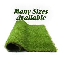 Forest Grass 5.5'x6.5 Artificial Carpet Fake Grass Synthetic Thick Lawn Pet Turf for Dogs Perfect for Indoor/Outdoor, x 6.5', Green