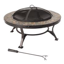 Pleasant Hearth OFW909RC Charlotte Slate Fire Pit