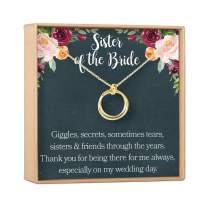 Dear Ava Sister of The Bride Gift Necklace: Sister Wedding Gift, Best Friend, Bridesmaid, 2 Linked Circles (Gold-Plated-Brass, NA)