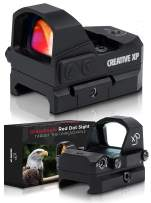 CREATIVE XP HD Red Dot Sight 3 MOA – Tactical Reflex Sight for Day & Night Time – Easy to Zero on a Glock or Rifle - Glock Mount Plate, Lifetime Battery Replacement - GlassEagle