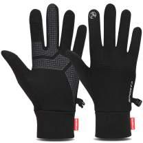 Cevapro Lightweight Running Gloves Touch Screen Gloves Mittens Liners Women Men for Running Driving Cycling