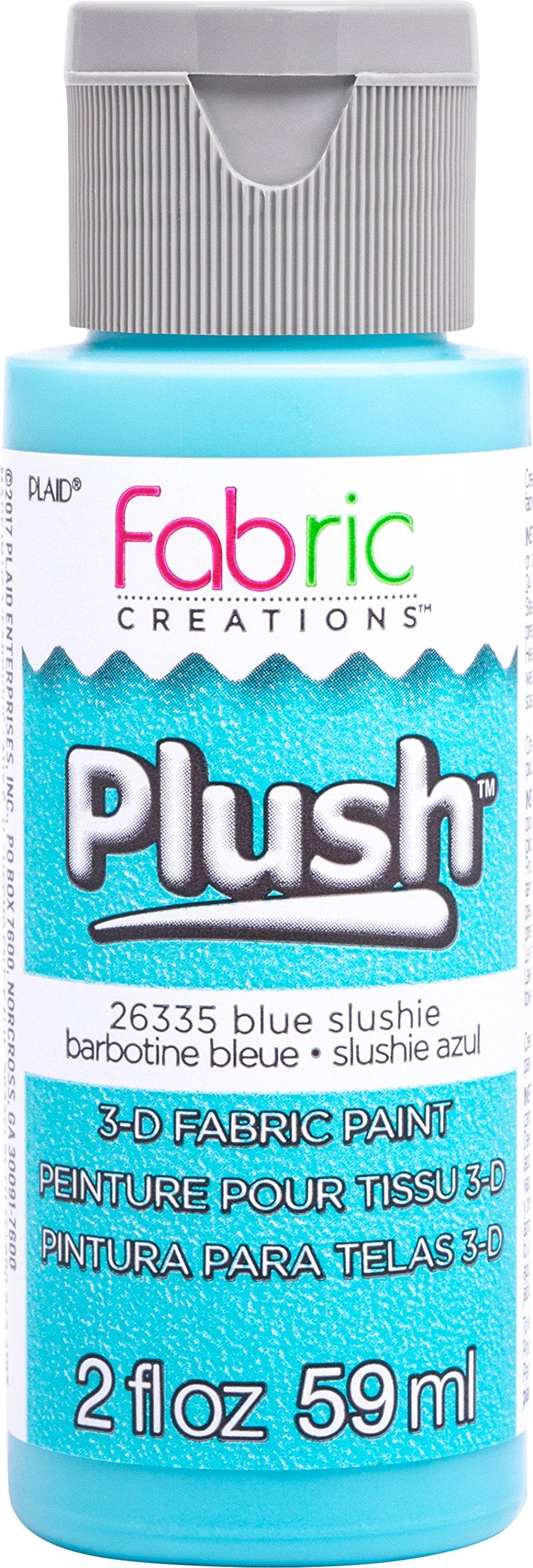 Fabric Creations 3-D Plush Fabric Paint, 2 oz, Blue Slushie