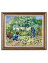 DECORARTS - First Steps, After Millet. Vincent Van Gogh Reproductions. Giclee Print for Wall Decor. 30x24 Framed Size: 35x29