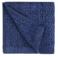 "Everplush Diamond Jacquard Bath Linens Wash Cloth, 6 Pack, 13"" x 13"", Navy"