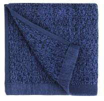 "Everplush Diamond Jacquard Bath Linens Wash Cloth, 6 Pack, 13"" x 13"", Navy"