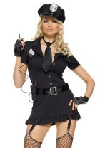 Leg Avenue Adult's Womens Sexy Dirty Cop Police Officer Dress Costume