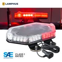 "NanoFlare NFMB40 12"" 40W RED WHITE LED Strobe Mini Light Bar [SAE Class 1] [63 Flash Modes] [12ft Cord] [Magnet or Permanent] Flashing Emergency Warning Light Bar for Volunteer Firefighter"