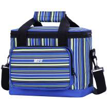 MIER 16 Can Large Insulated Lunch Bag for Women and Men, Soft Leakproof Liner, Blue