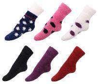 Women's Antiskid Socks Hospital Slipper Socks, 6 Pairs_pul/Wt Pul/Bl/Rose Bl/Bur/Nay Wt