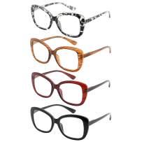 Eyekepper 4-Pack Chic Reading Glasses for Women Oversized Readers