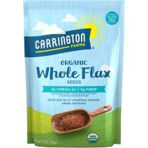 Carrington Farms Organic Whole Flax Seed, Gluten Free, USDA Organic, 15 Ounce (Pack of 6)