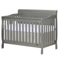 Dream On Me Ashton Full Panel Convertible 5-in-1 Crib, Storm Grey, Full Size
