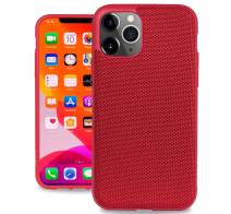 Evutec Ballistic Nylon iPhone 11 Pro Max 6.5 Inch, Unique Heavy Duty Premium Protective Military Grade Drop Tested Shockproof Phone Case Cover(AFIX+ Magnetic Mount Included) (Red)