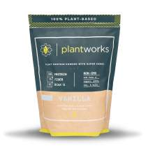 Plant Works Nutrition - 100% Plant-Based Performance Protein Powder with Super Herbs - Non-GMO - 15 Serving Bag - Vanilla