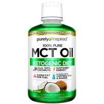 Purely Inspired 100% Pure MCT Oil, Sourced from Coconut, Supports Keto & Paleo Diets, Non-GMO, Gluten Free, Unflavored, 31 Servings (16 Fl Oz)