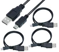 SaiTech IT 3 Pack USB 2.0 A to Mini 5 pin B Cable for External HDDS/Camera/Card Readers -Black -50cm(1.5 feet)