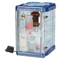 Bel-Art Secador Vertical Profile Clear 4.0 Auto-Desiccator Cabinet with Blue End-Caps; 100V, 1.9 cu. ft. (F42074-1106)